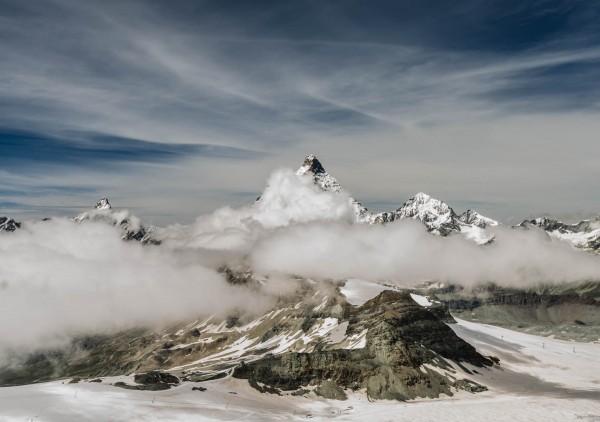 Matterhorn in den Wolken