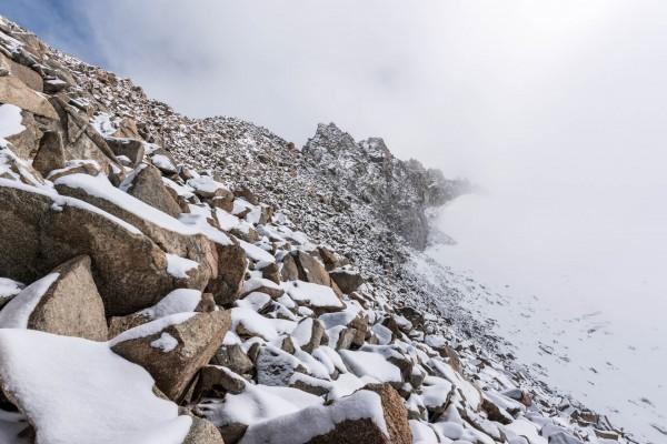 Forcla Tschierva mit dem ersten Schnee