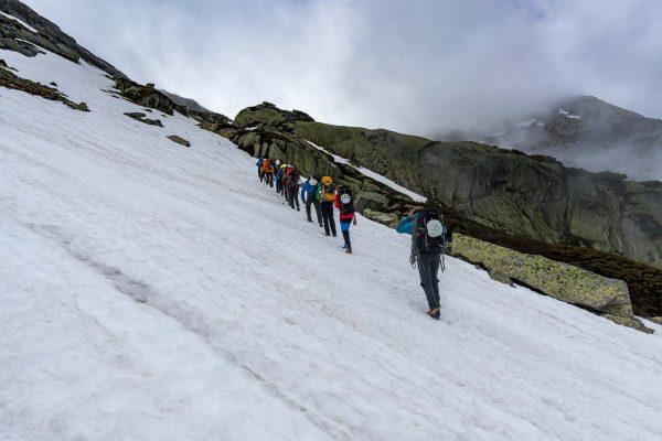Aufstieg zur Bächlitalhütte