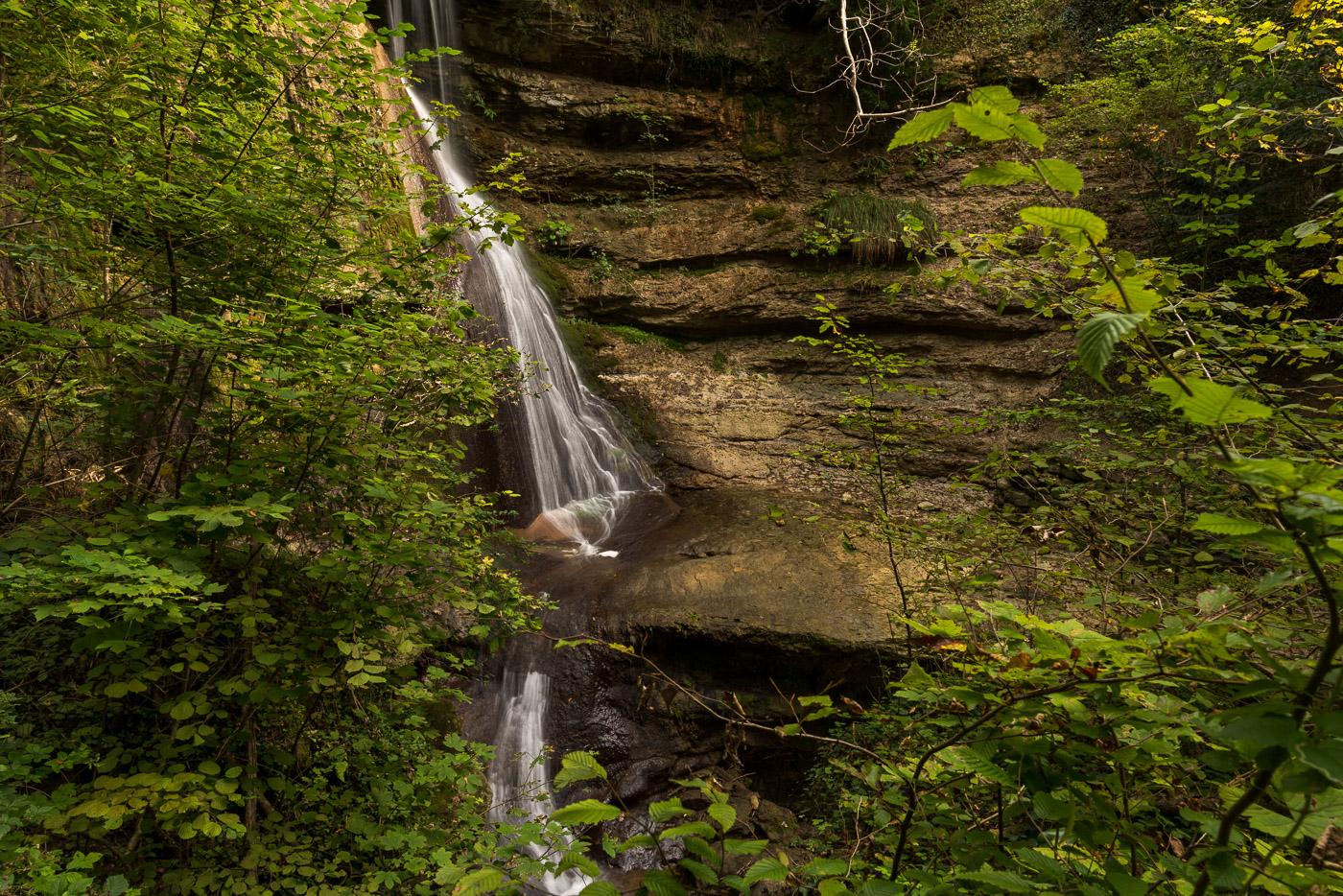 Wasserfall am Dorfbach in Erlenbach