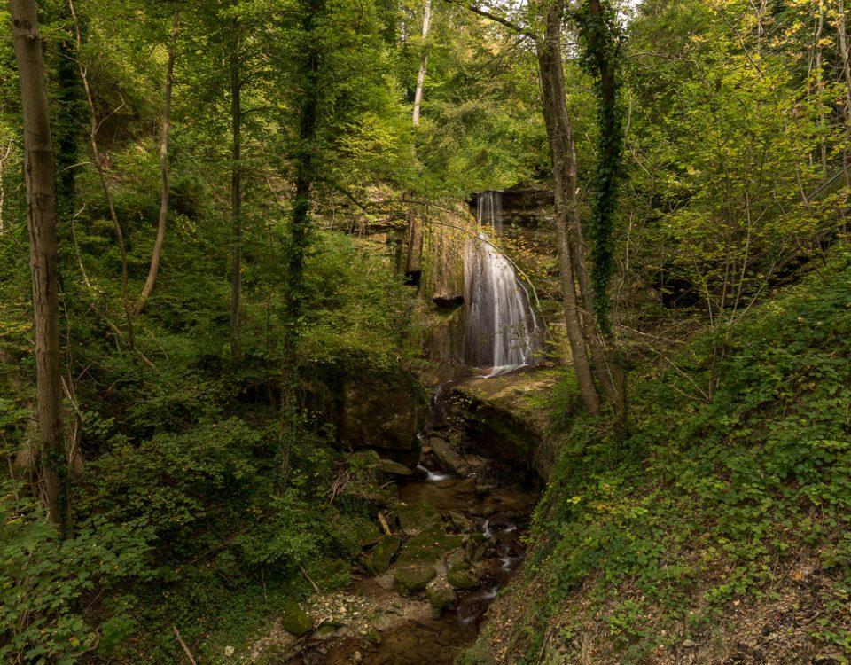 Wasserfall am Dorfbach Erlenbach