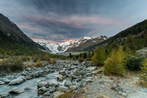 Val da Morteratsch vor Sonnenaufgang