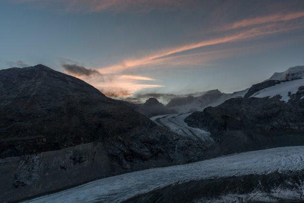Diavolezza und Waadter Pers vor Sonnenaufgang