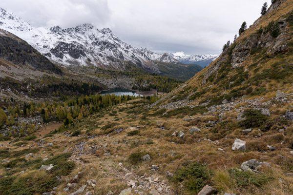 Pass da Val Viola nach dem ersten Schnee