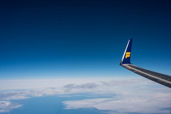 Icelandair über dem Atlantik