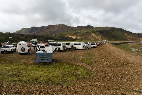 Car Parkplatz in Landmannalaugar
