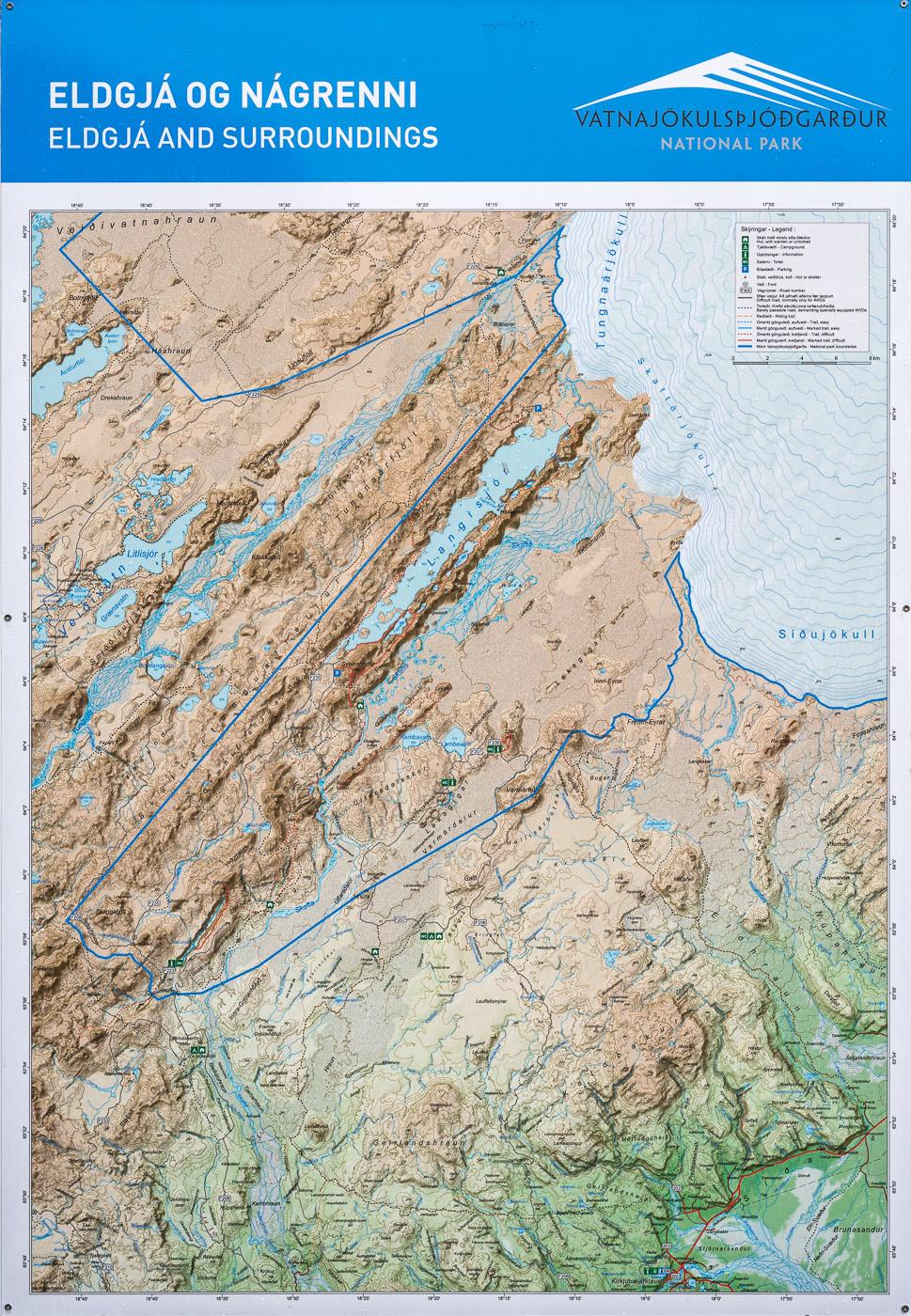 Karte Langisjór