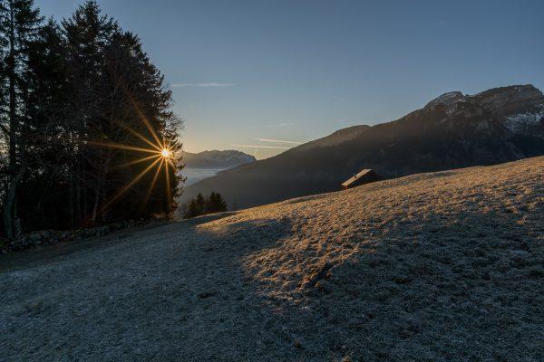 Sonnenaufgang am Grabserberg