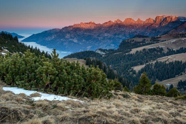 Aussicht vom Palfries Richtung Churfirsten