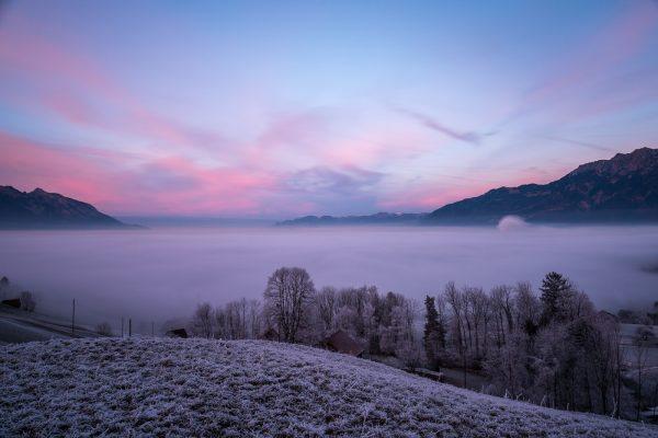 Nebelmeer über dem Rheintal
