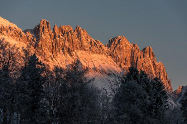 Chrüzberge im ersten Morgenlicht
