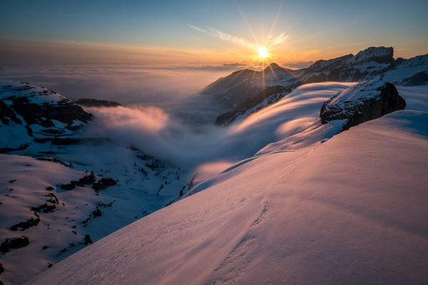 Nebelwelle über die Niederi