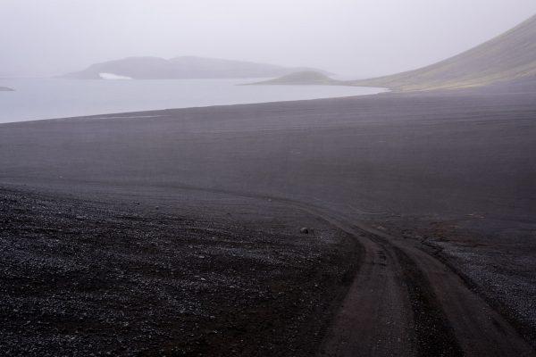 Langisjór im Nebel