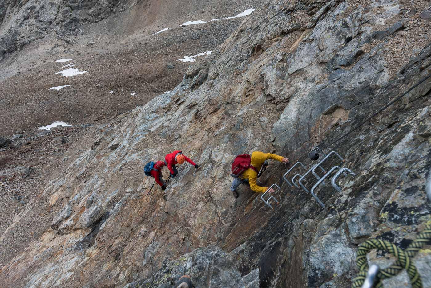 Klettersteig Piz Trovat : Piz palü u hochtour über die normalroute auf den hauptgipfel