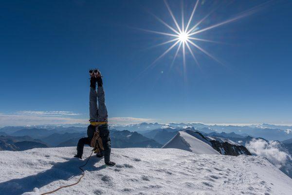 Patrick Keller auf dem Gipfel