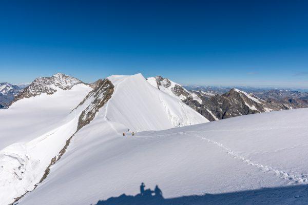 Gipfelgrat zum Piz Palü Hauptgipfel