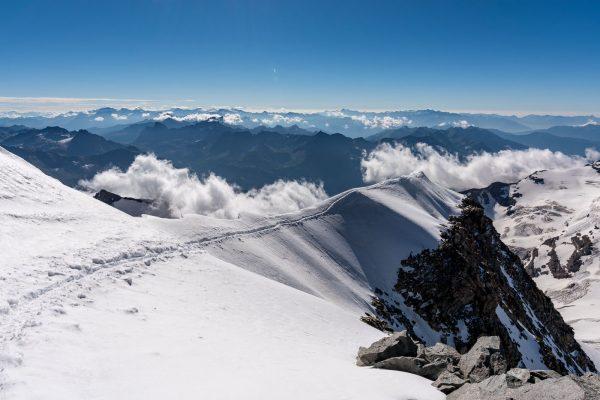 Gipfelgrat Piz Palü Ostgipfel