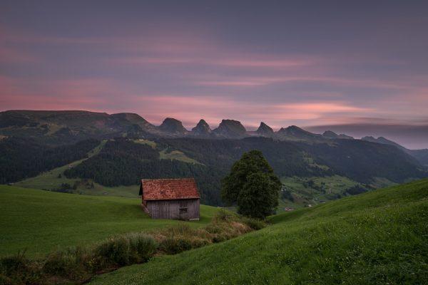 Sonnenuntergang über den Churfirsten