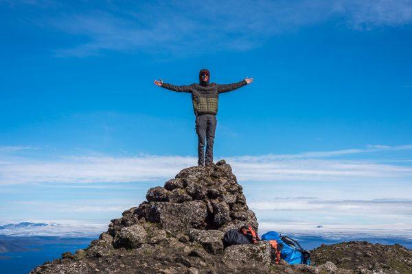 Andi auf dem Gipfel