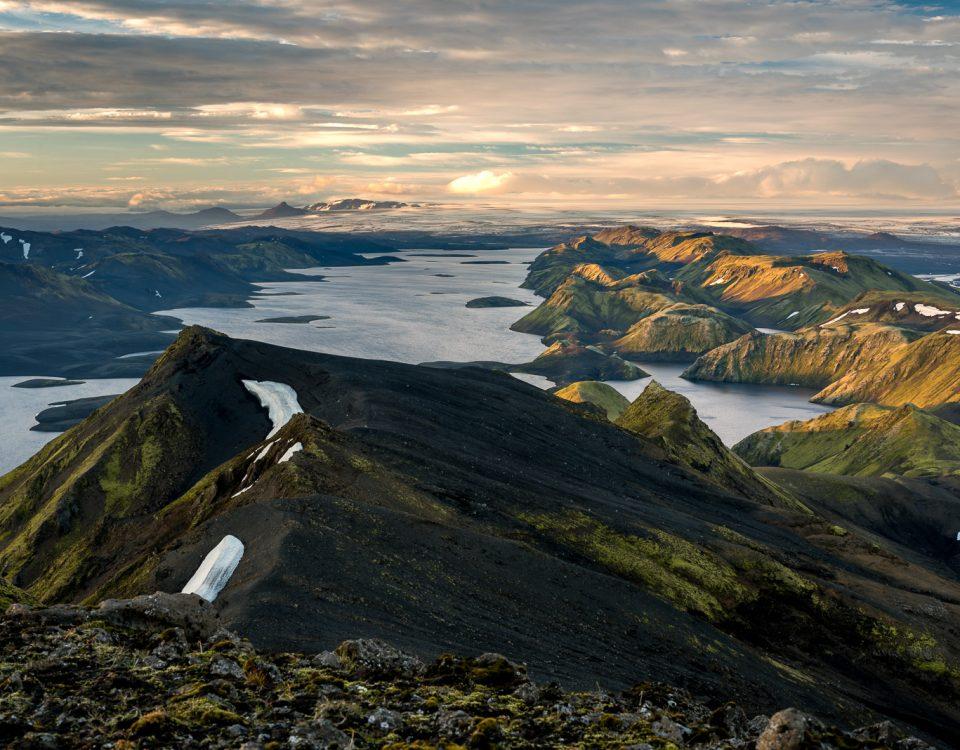 Sonnenuntergang auf dem Sveinstindur