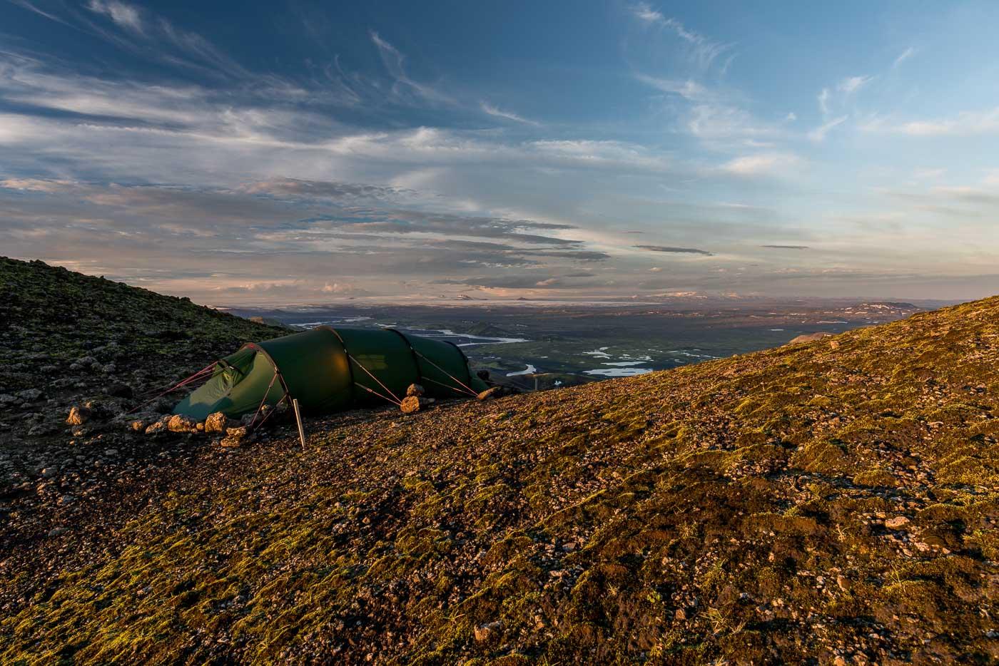 Zeltplatz auf dem Sveinstindur