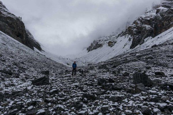 Schnefallgrenze im Val Sassa