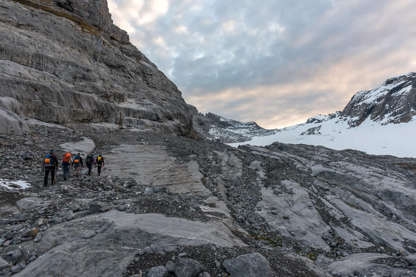 Gletscher Zustieg