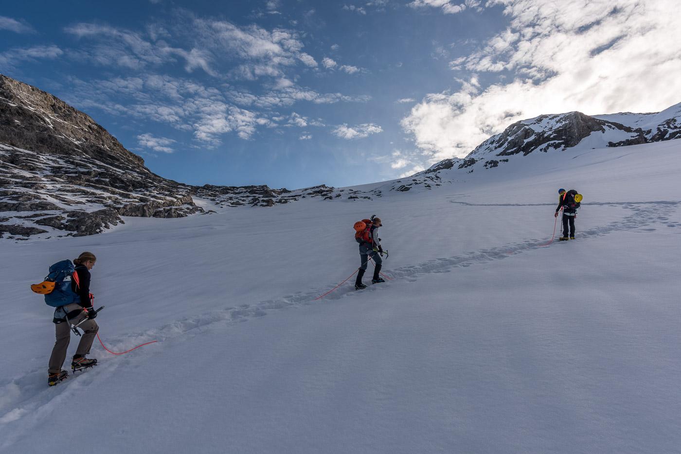 Gletscher Überquerung