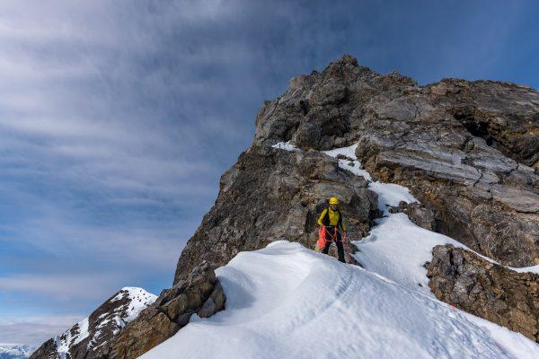 Kletterpassage von Unten