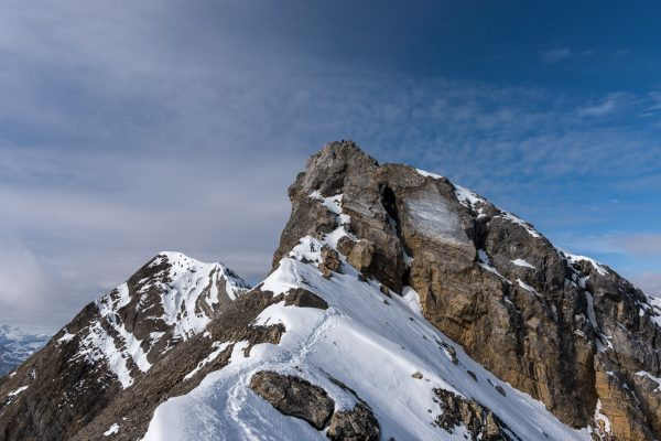 Blick zurück zur Kletterstelle