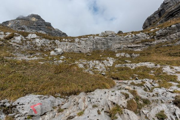 Steilstück oberhalb der Hütte