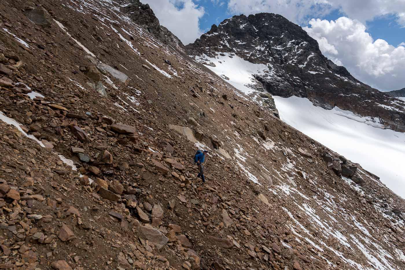 Abstieg auf den Silvrettagletscher