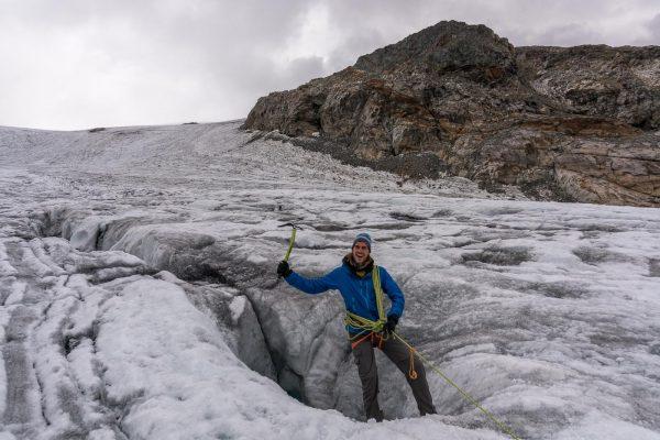 Ab in die Gletscherspalte