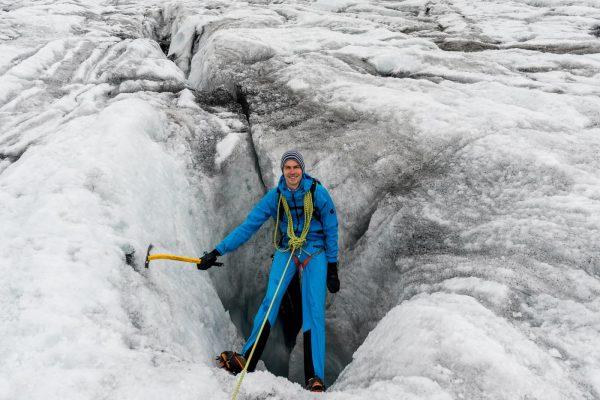 Erkundung Gletscherspalte