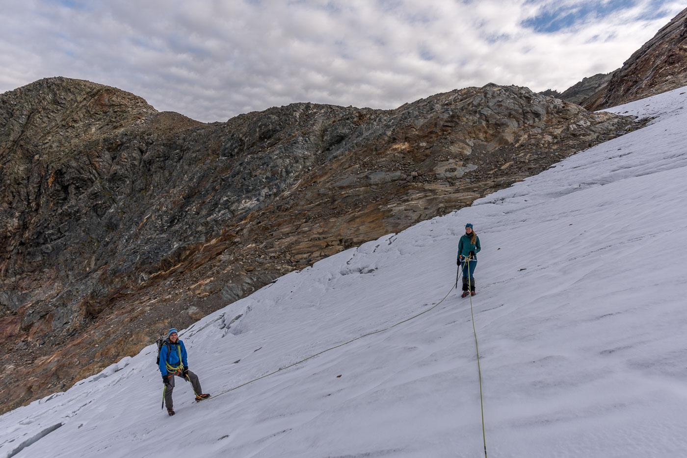 Klostertaler Gletscher vor der Schneeglocke