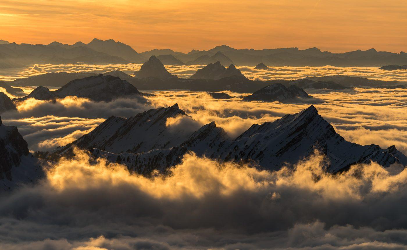 Nebelmeer über dem Toggenburg