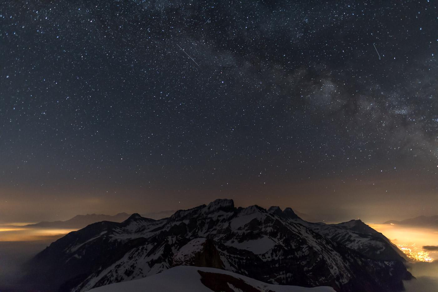 Milchstrasse über der Alvierkette