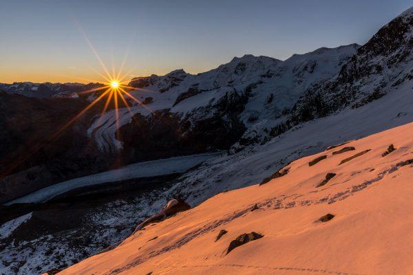 Sonnenaufgang über der Diavolezza