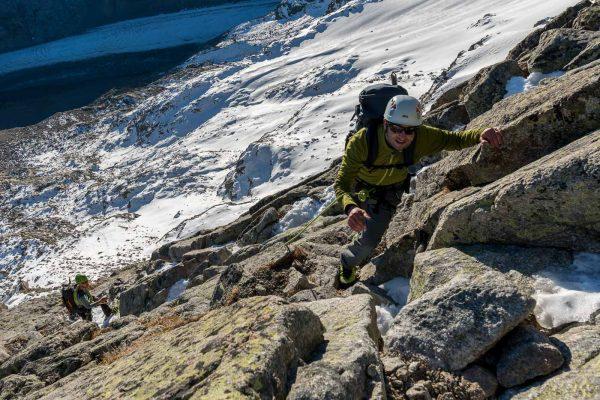 Klettern zur Fuorcla da Boval im II + III Grad
