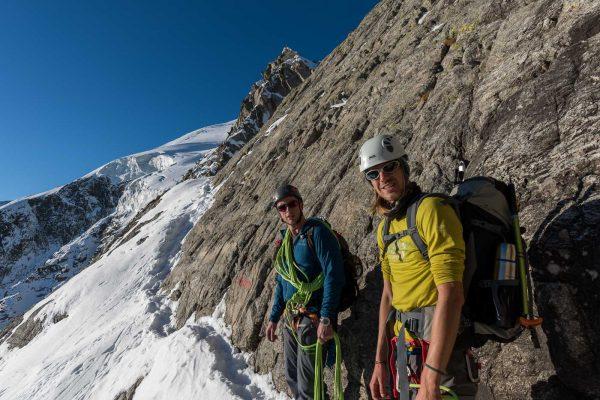 Aufstieg zur Bovallücke im oberen Schneefeld