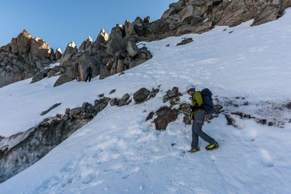 Abstieg auf den Gletscher