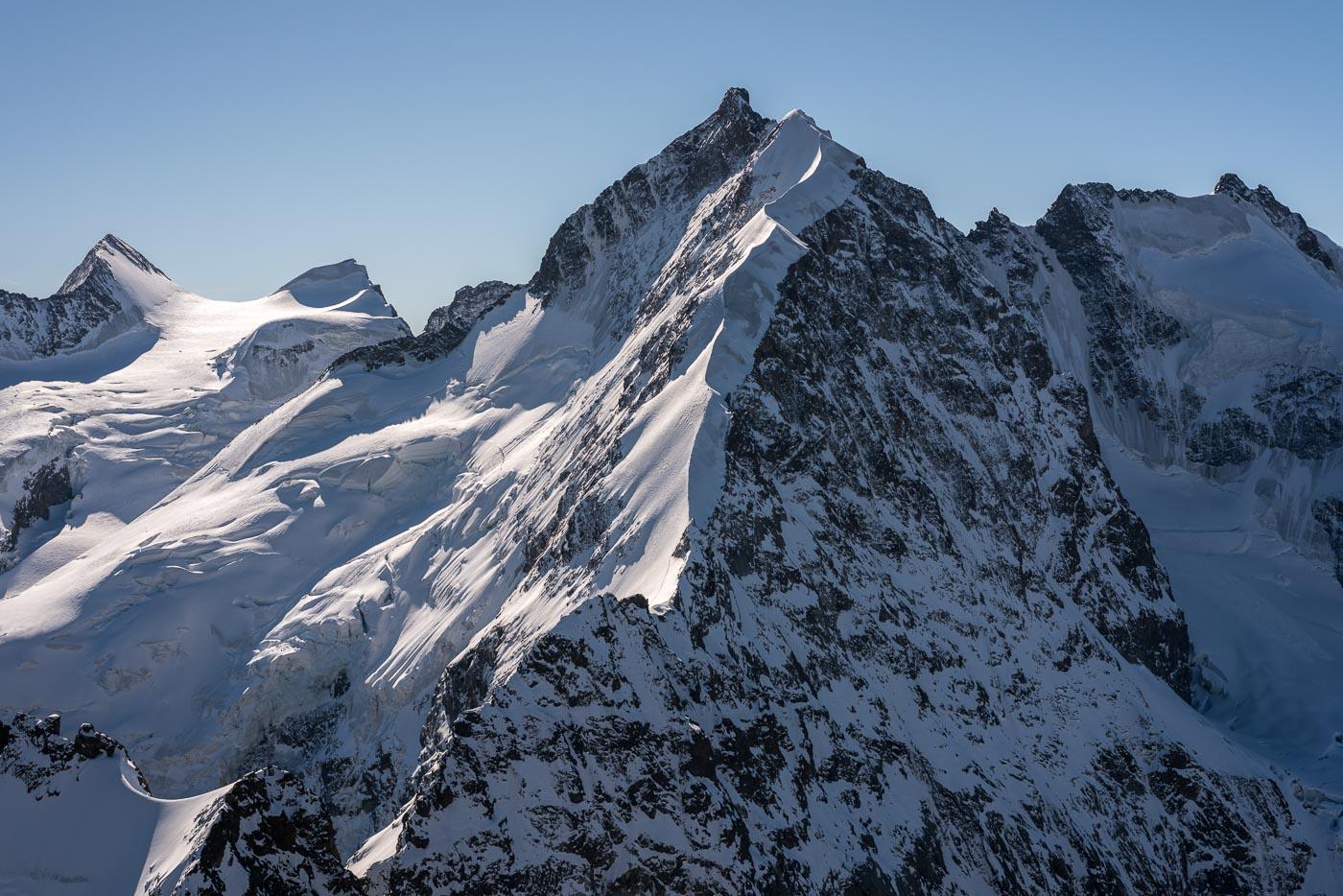 Bianco Grat und Piz Bernina