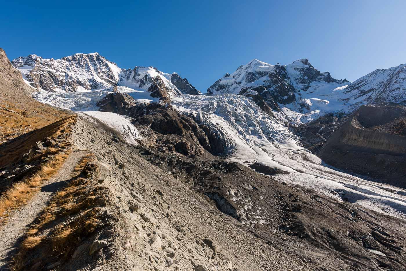 Biancograt und Vadret da Tschierva