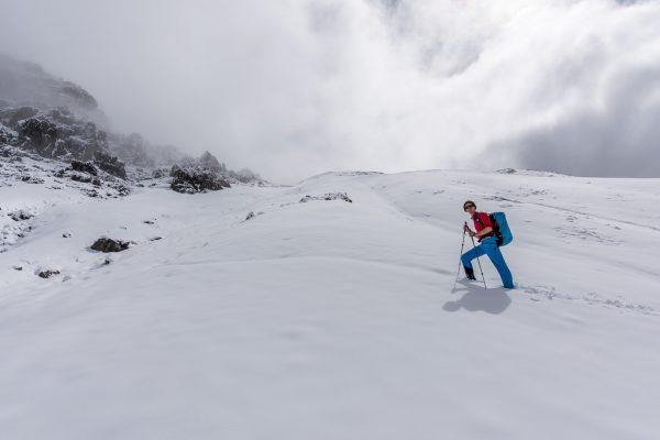 Vorspuhren im Schnee