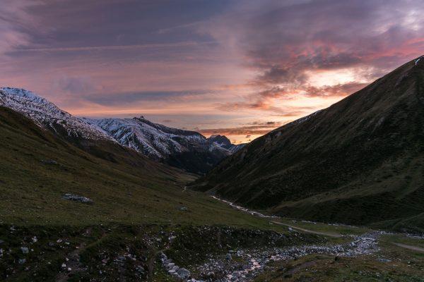 Sonnenaufgang über dem Valle di Federia
