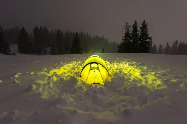 Zeltplatz ohne Windschutz