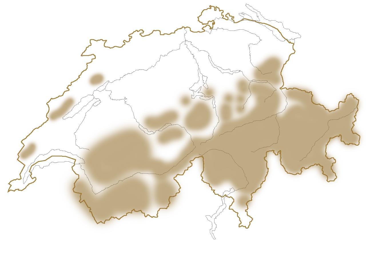 Vorkommen der Murmeltiere in der Schweiz