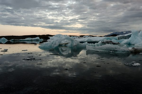 Jökulsárlón schwimmende Eisberge