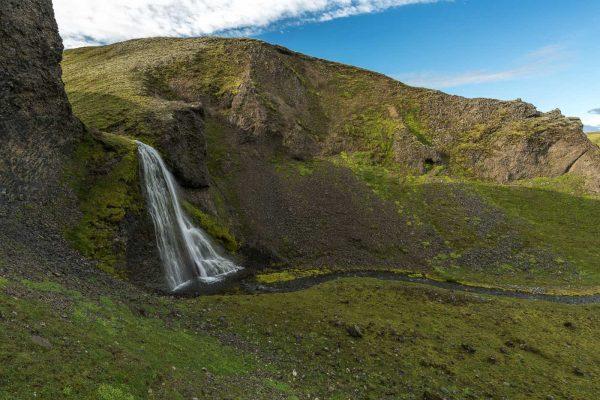 Wasserfall kurz vor dem Zeltplatz