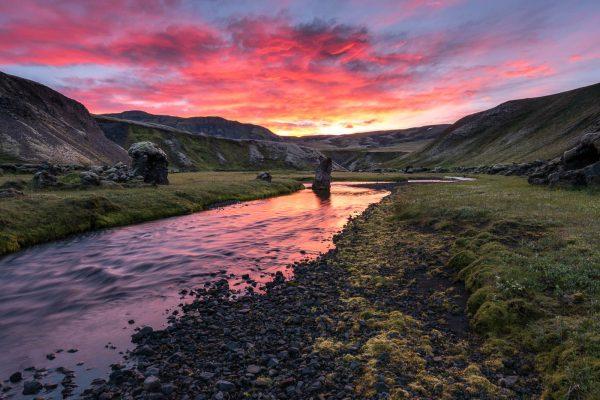 Sonnenuntergang in Skælingar
